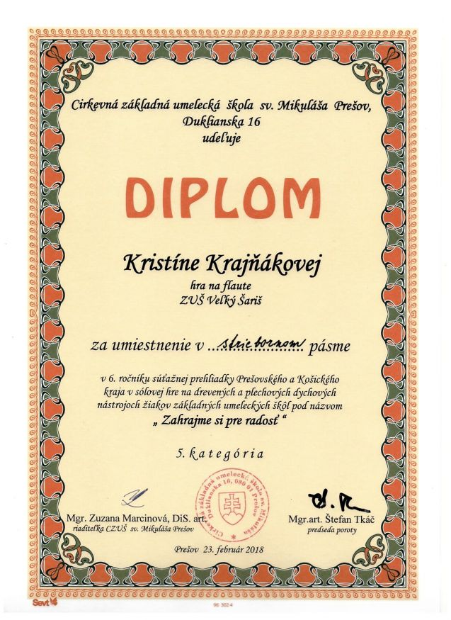 Základná umelecká škola Veľký Šariš a0174c1a53e